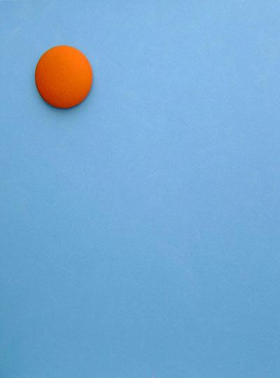 Oranje zon - 2005 olie op doek en hout 90x110